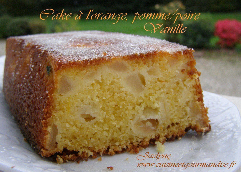 Cake à l'orange, pomme/poire/vanille/orange - Cassonade Belge Graeffe  (Variante du cake à l'orange de Sophie Dudemaine) Jaclyne www.cuisineetgourmandise.fr