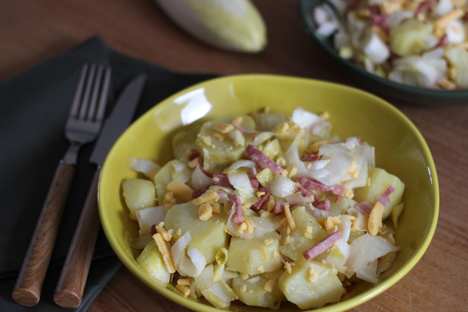 salade pommes de terre endives cheddar