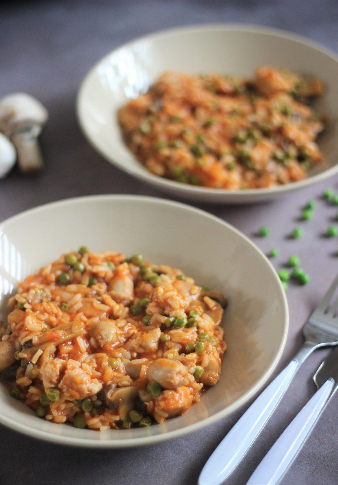 risotto petits pois cookeo