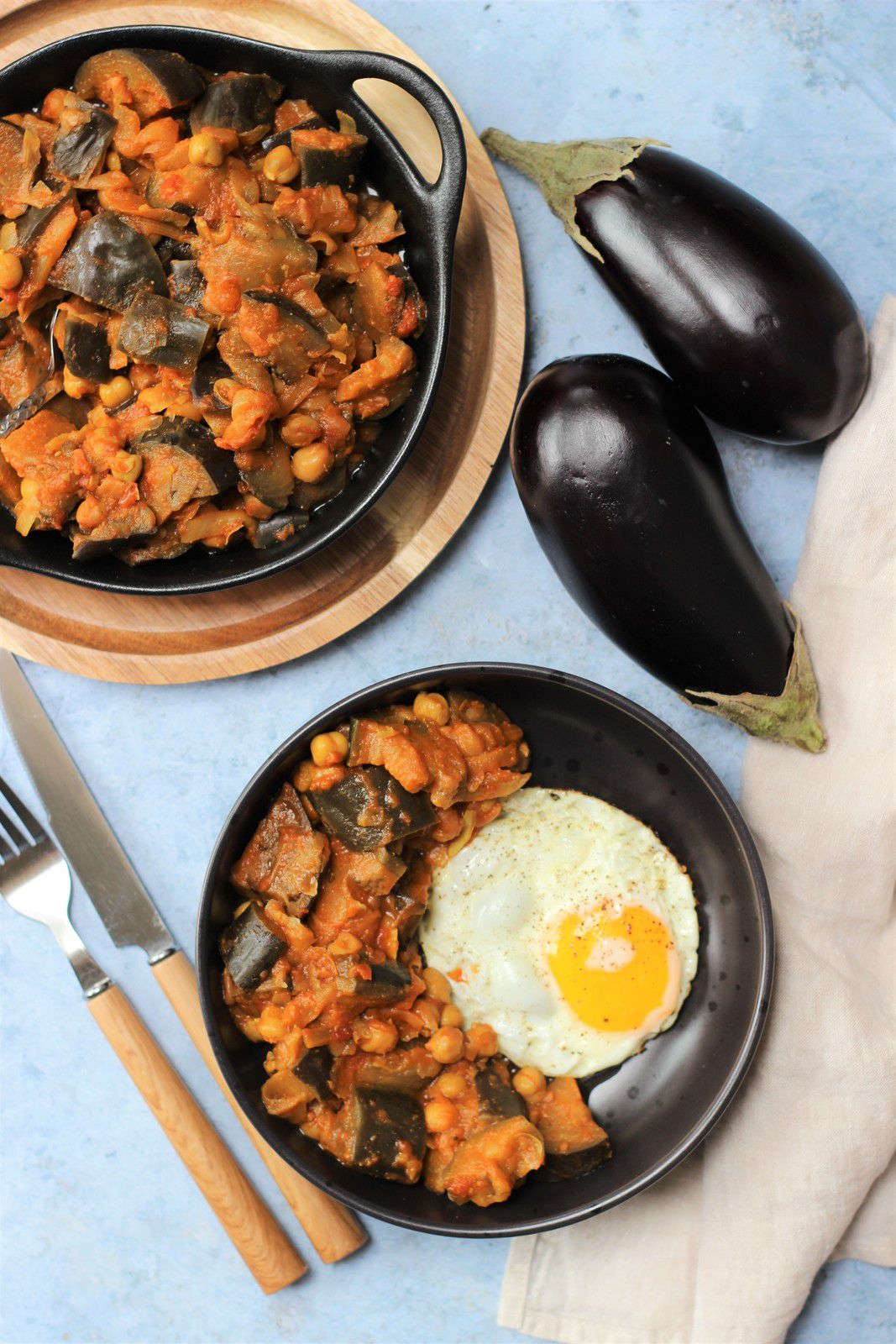 curry aubergines pois chiches cookeo