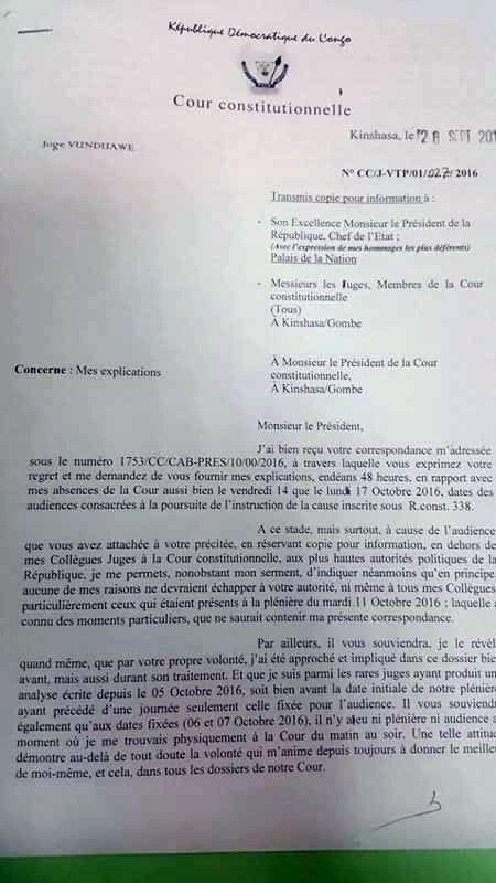Fin de règne, la Cour Constitutionnelle congolaise étale son linge sale en public