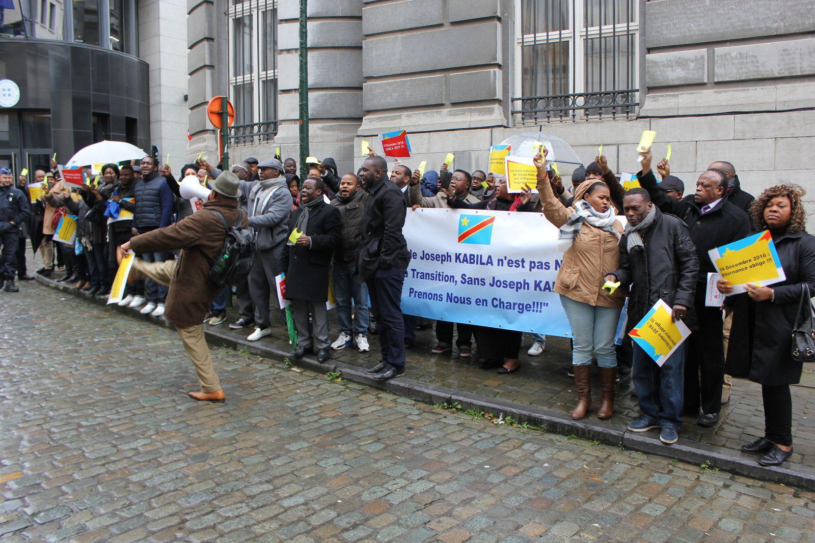 Bruxelles, deuxième carton jaune à Kabila devant le ministère belge des Affaires Etrangères