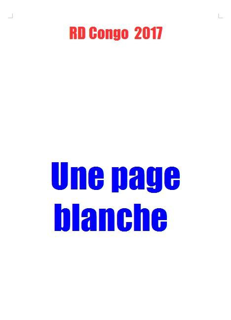 RD Congo 2017, une page blanche