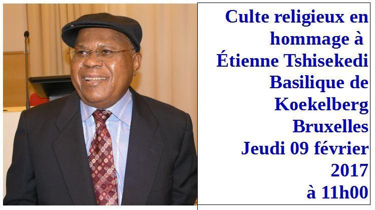 Bruxelles. Culte religieux en hommage à Tshisekedi