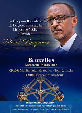 Arrivée de Paul Kagame à Bruxelles, mobilisation de l'opposition rwandaise