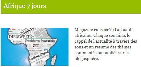 Invité d'Afrique 7 jours sur la voix de l'Allemagne: Cheik FITA