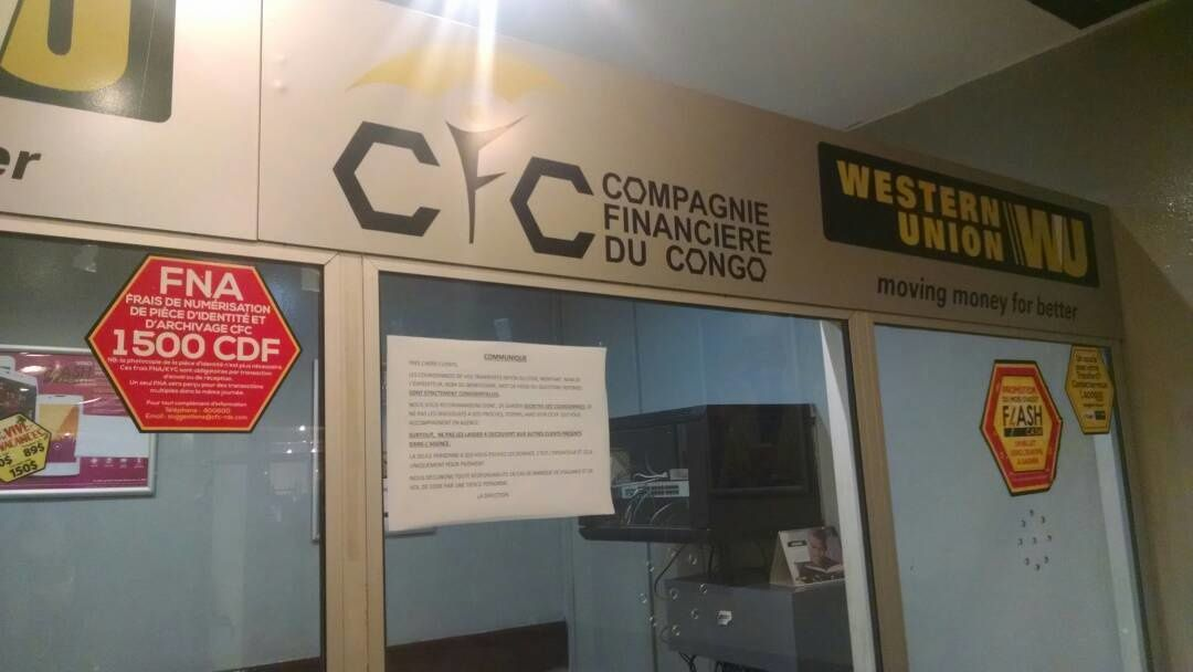 Lettre ouverte à Western Union: taxe de 1500 FC imposée aux clients congolais. Pourquoi?
