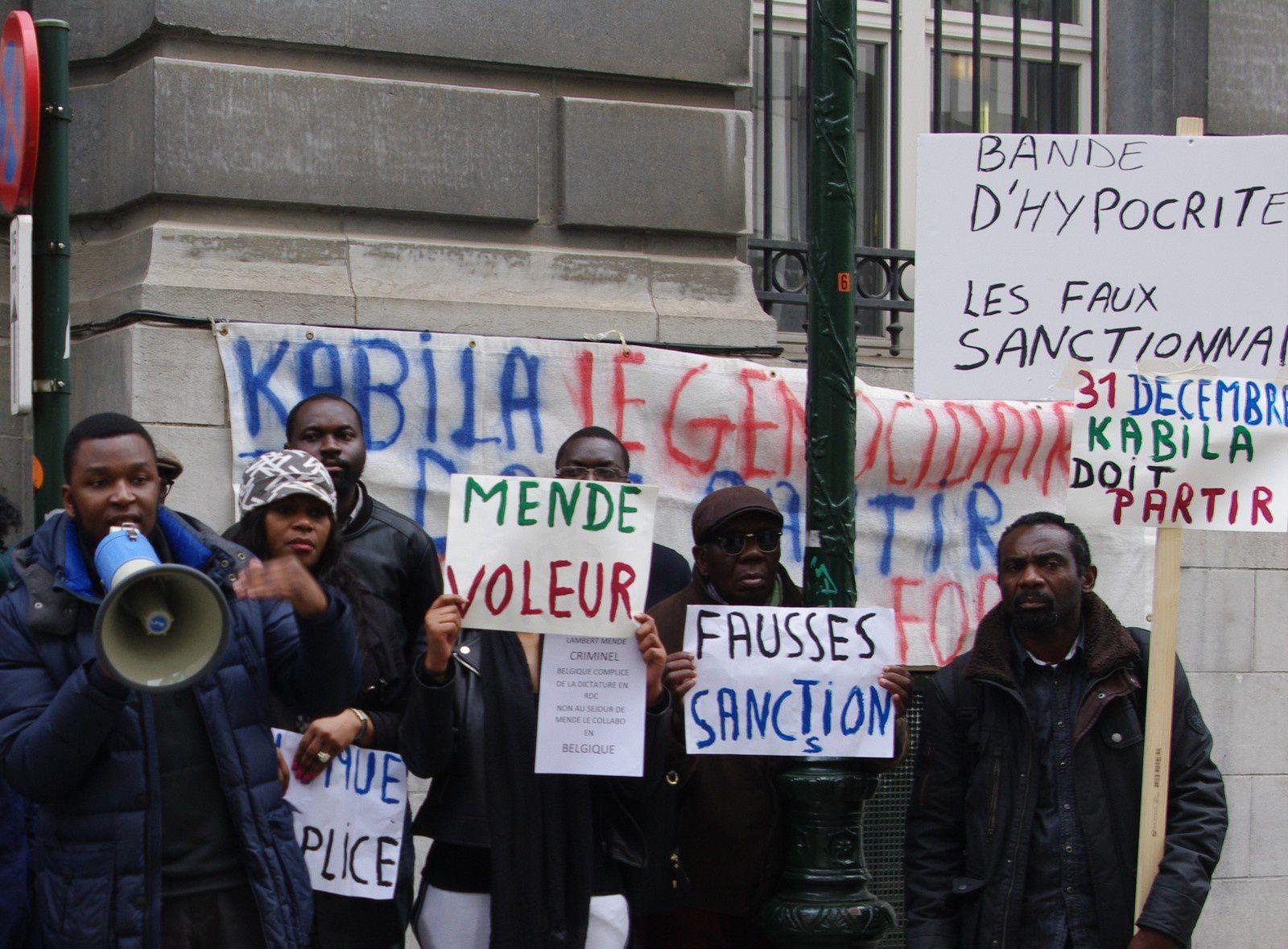 Communiqué de presse: Manif à Bruxelles de Congolais pour le départ de Kabila et Nangaa