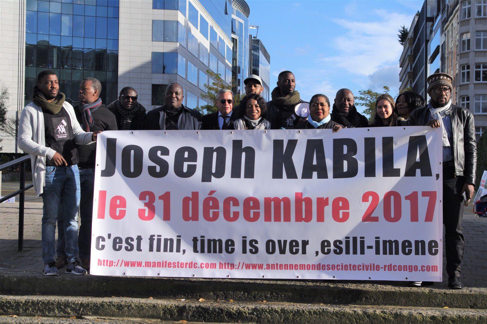 Départ de Kabila le 31.12.2017; 2è sit-in à Bruxelles