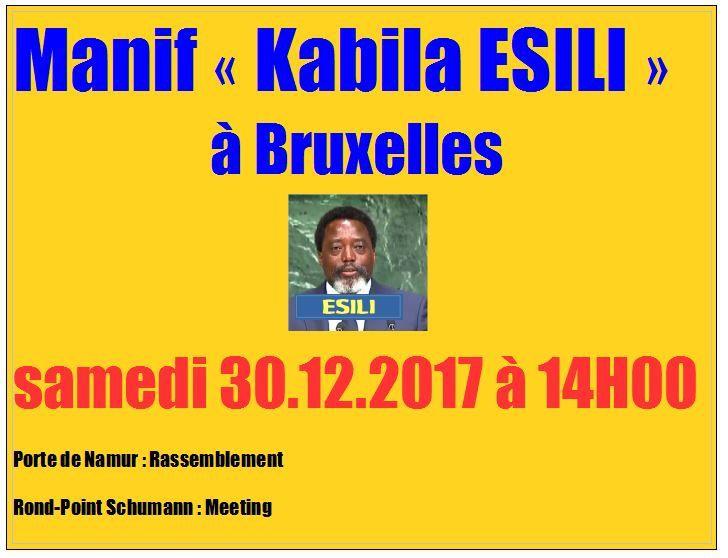 Grande Manif «Kabila=Esili» à Bruxelles le 30.12.2017