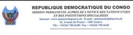 Imposture: Le représentant RD Congo à l'ONU-Genève qualifie le gouvernement Tshibala de légitime!