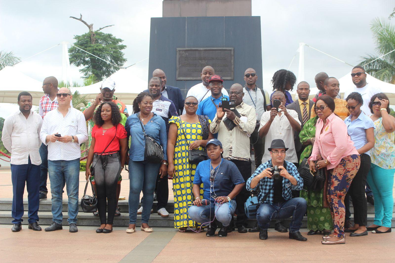 Photo 1, des délégués au parc national, bureau du Vice-Premier Ministre à Malabo. Photo Cheik FITA