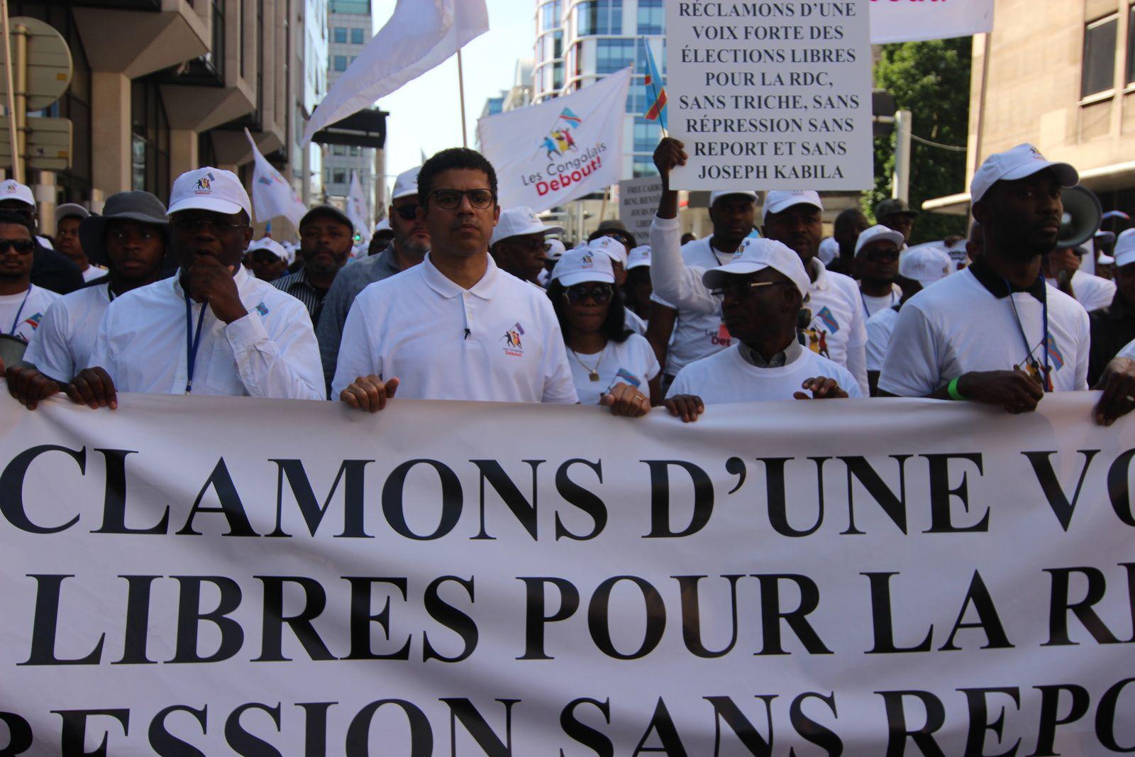 Sindika Dokolo en marche à Bruxelles. Photo Cheik FITA