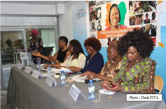Bruxelles. Des femmes africaines exigent la libération de Simone Gbagbo.