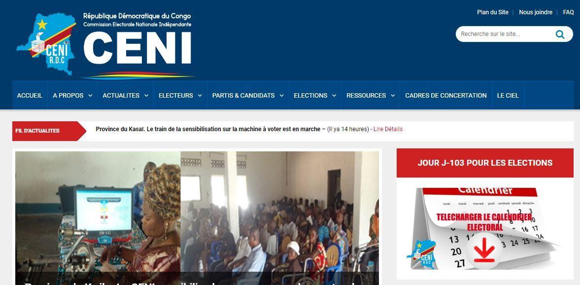 Document. Nombre d'électeurs à Kinshasa pour décembre 2018