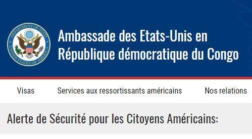 Menace terroriste contre les USA à Kinshasa, fuite en avant du clan Kabila?