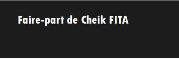 Faire-part de Cheik FITA