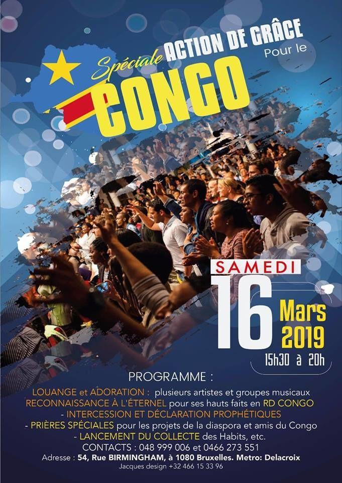 Bruxelles, journée spéciale RD Congo samedi 16.03.2019