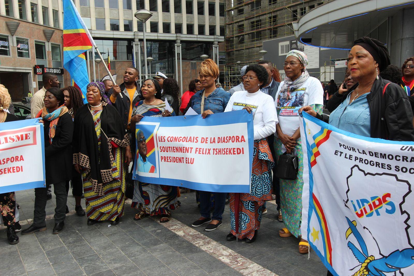 Manifestation pro-Félix Tshisekedi à Bruxelles