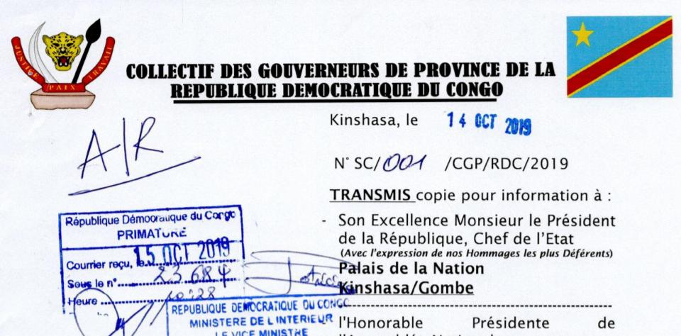 Le «Collectif de gouverneurs de province» pris dans son propre piège