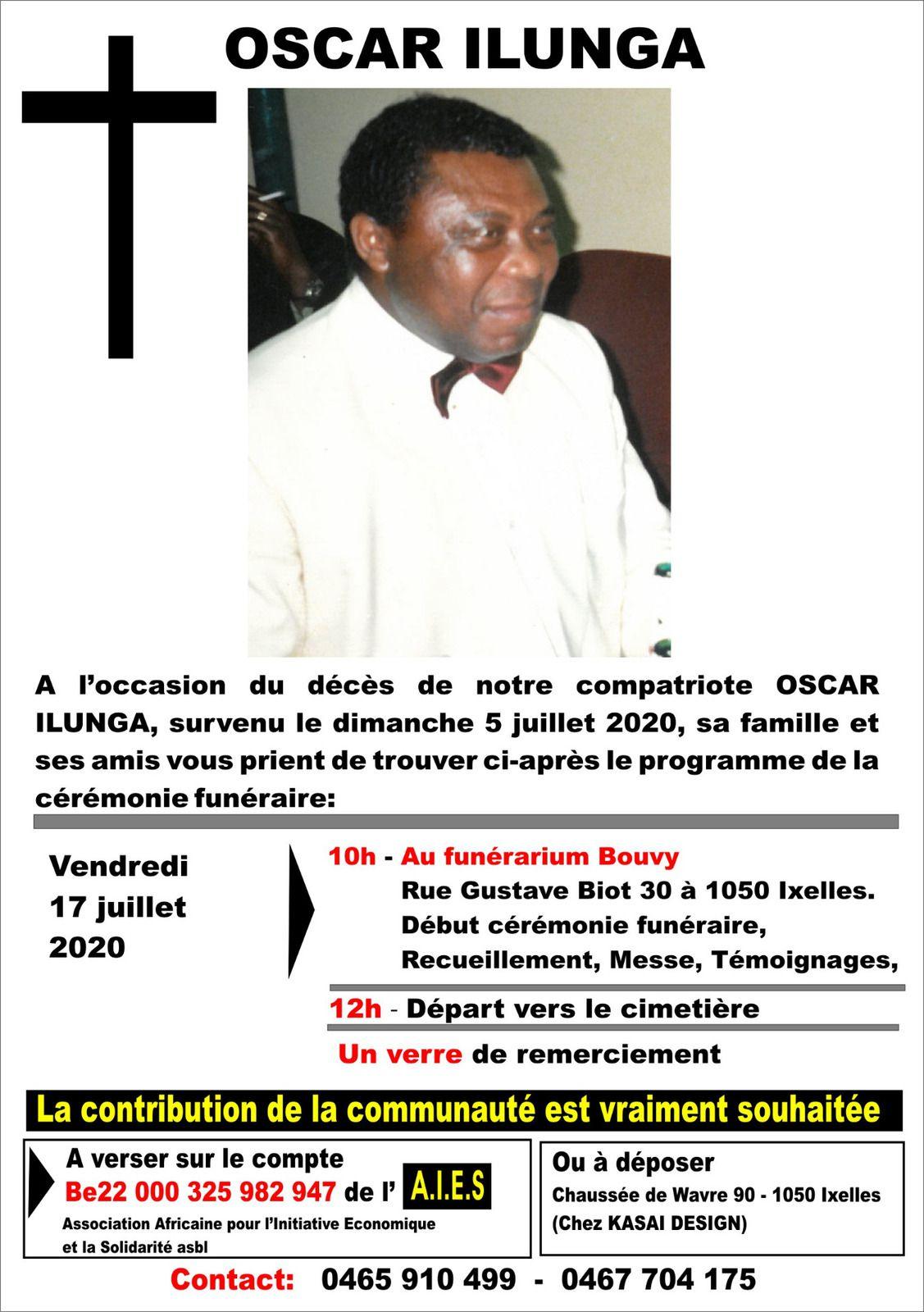 La communauté congolaise de Belgique endeuillée: disparition d'Oscar Ilunga