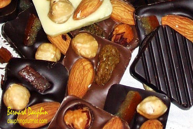 CHOCOLATS DE NOEL : LES MENDIANTS AU CHOCOLAT