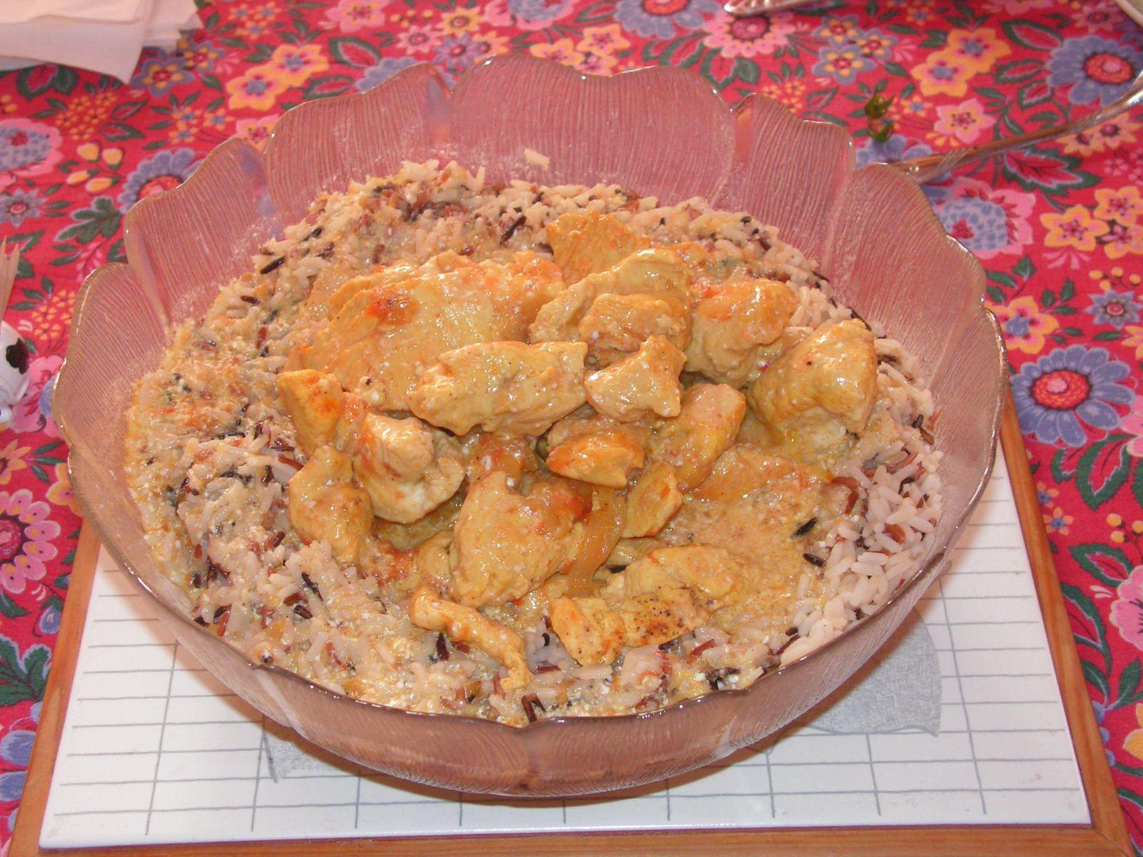 Curry de dinde au yaourt