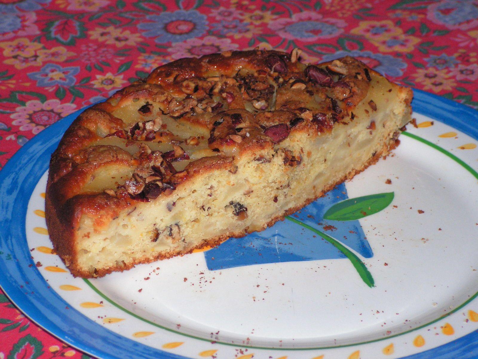 Gâteau poire-noisette