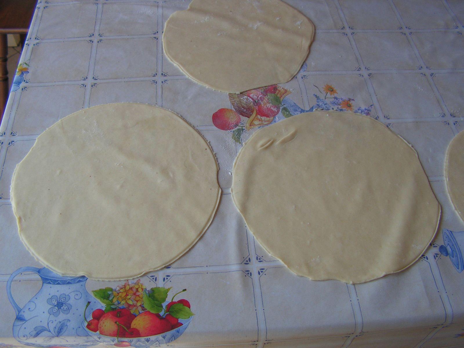 Tortillas avant la cuisson