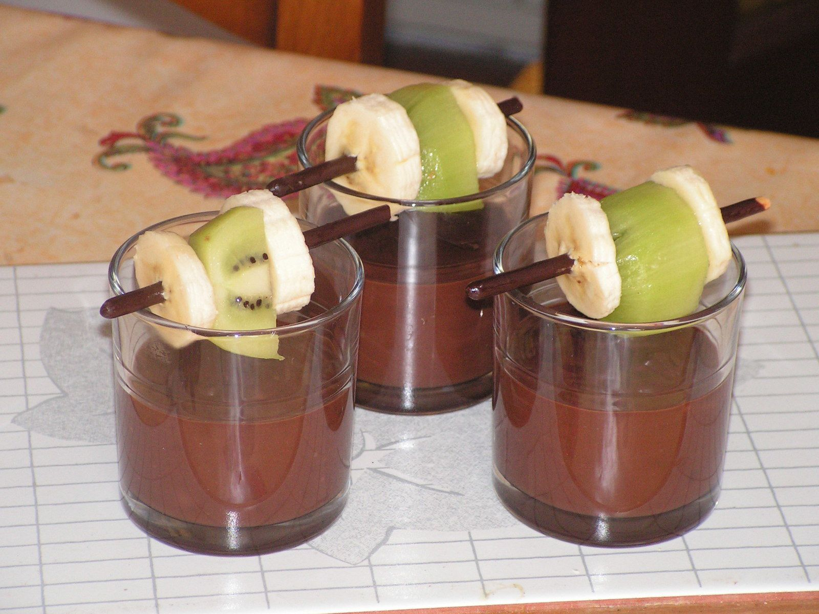 Verrines au chocolat pimenté