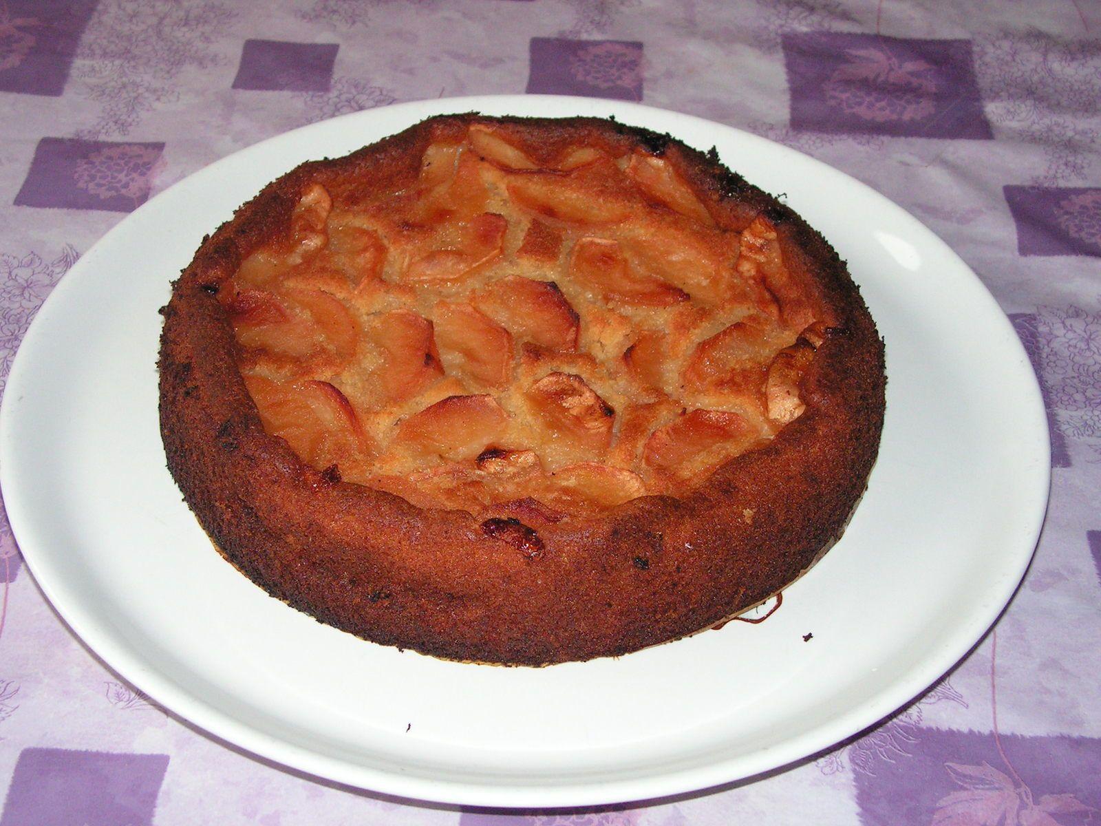 Gâteau aux pommes et ricotta