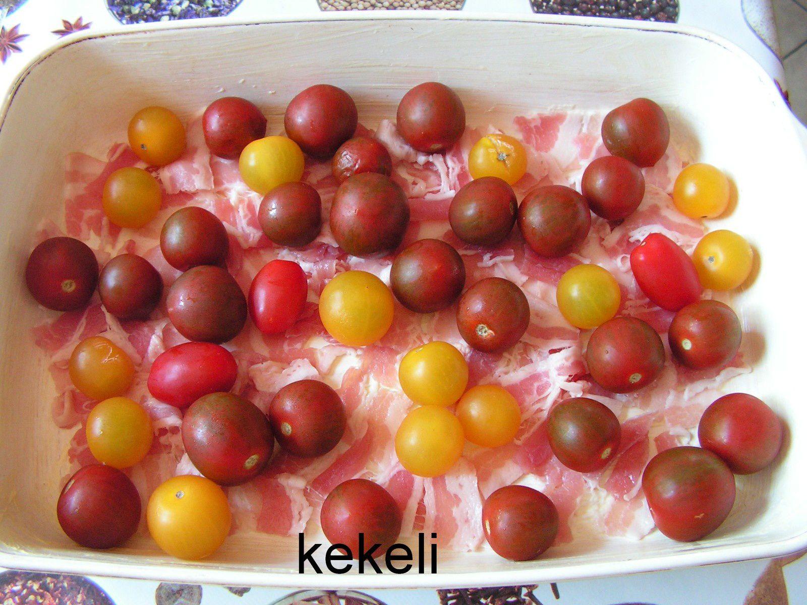 Flan aux tomates cerise