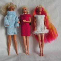 Nombreux lots de vêtements pour poupée Barbie soldé à 13€50
