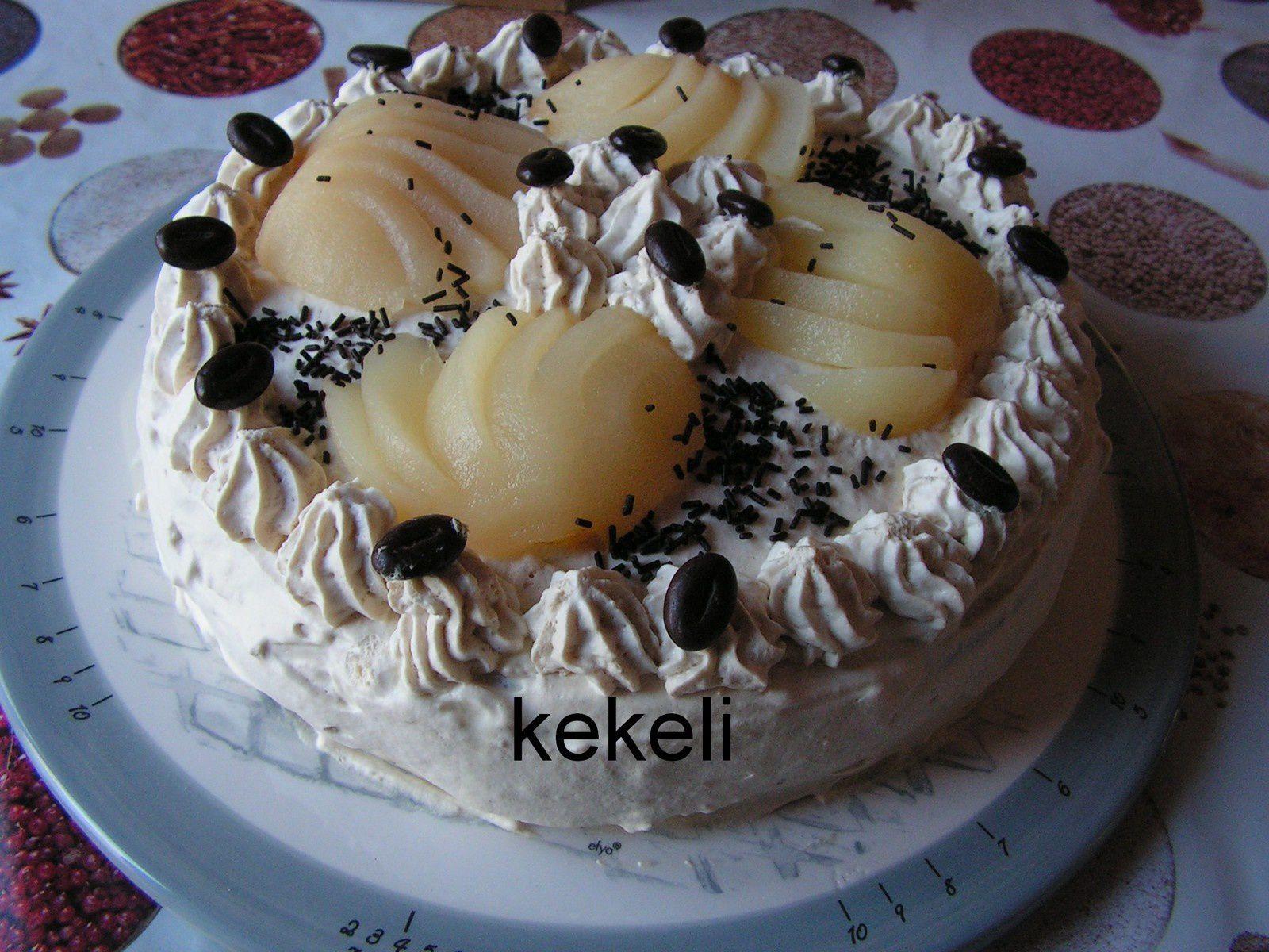 Gâteau à la crème mocca et biscuit au chocolat