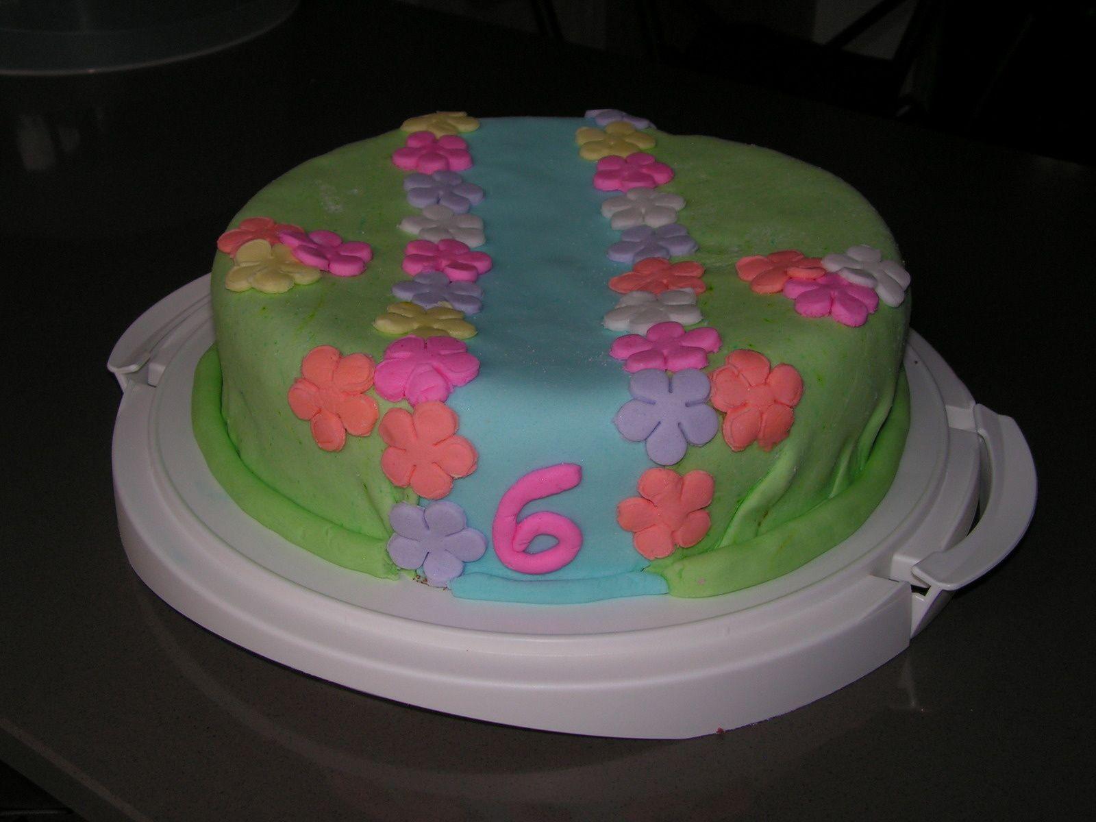 Gâteau d'anniversaire pour les 6 ans de Juliette
