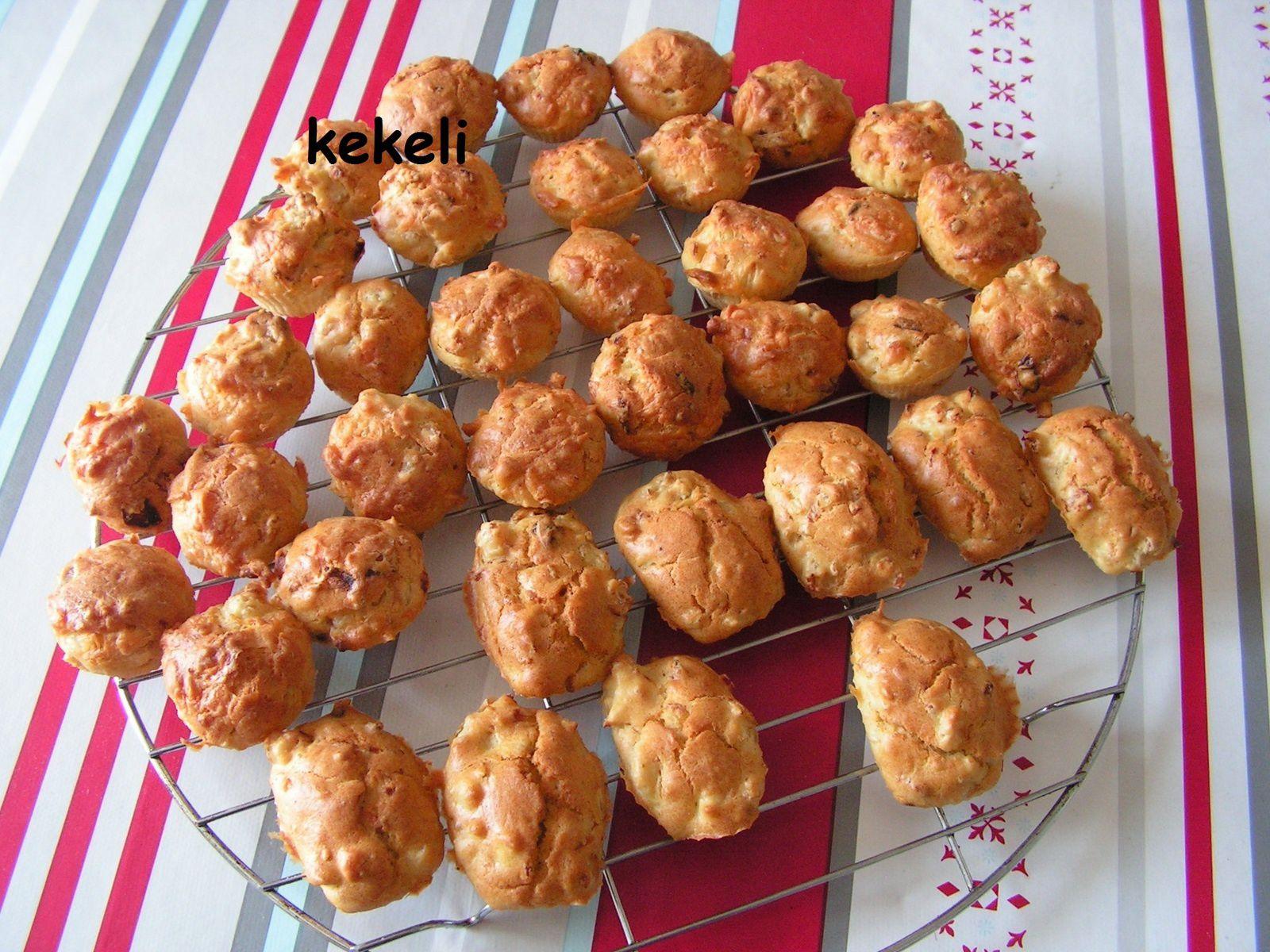 Mini muffins au poulet et emmental