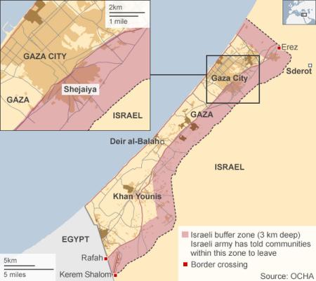 Israël s'approprie 40% de la bande de Gaza