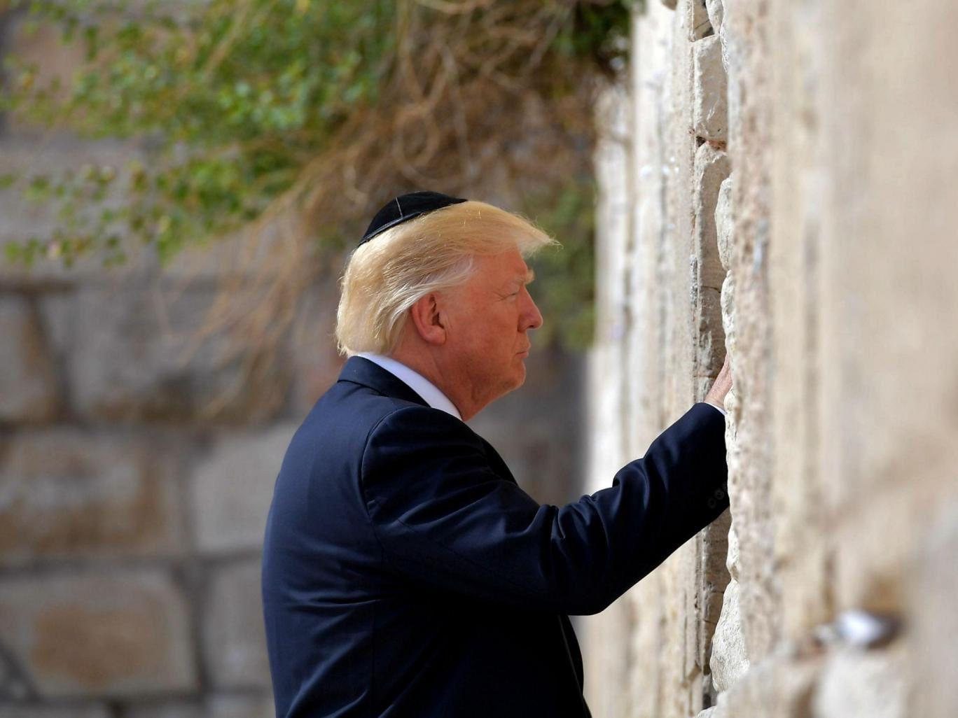 Jérusalem/Al-Quds : Donald Trump au mur des Lamentations