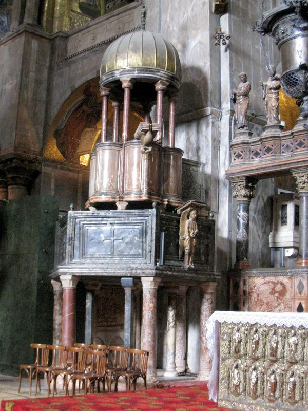 Ambon (chaire) de la basilique St Marc à Venise