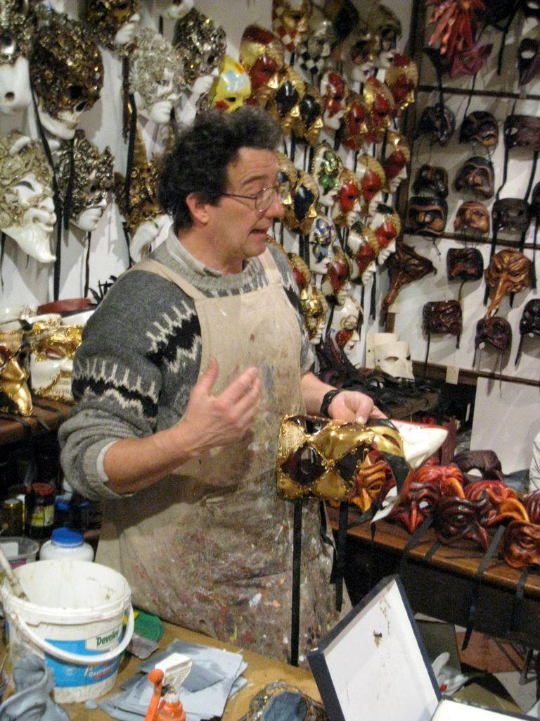 Fabrique de masques à Venise