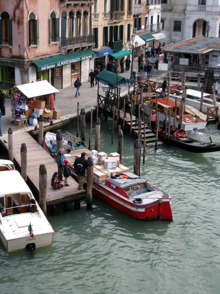 Embarcations, Venise