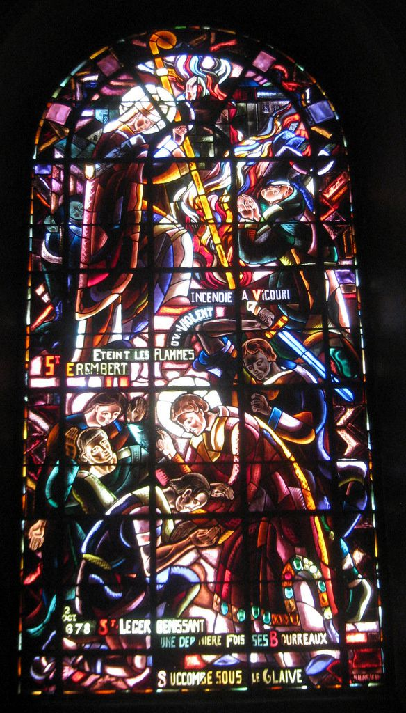 Vitrail St Erembert et St Léger, église St Germain de St Germain-en-Laye