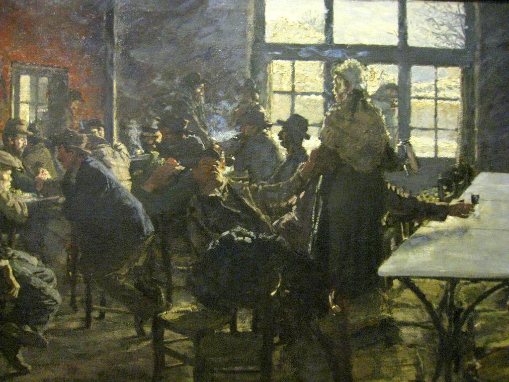 Eugène Martel, intérieur de café