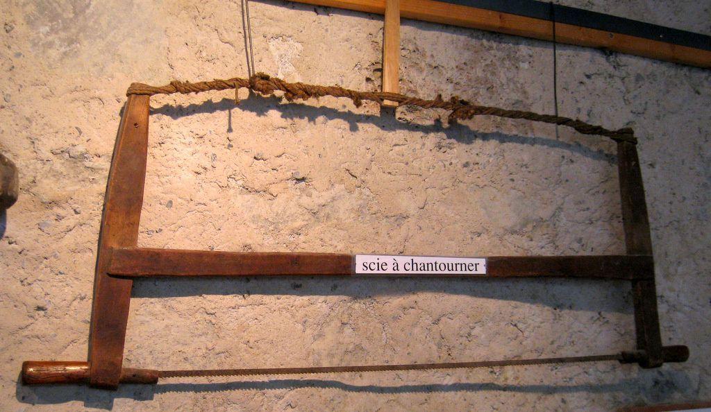 Travail du bois (les scies), abbaye de Boscodon