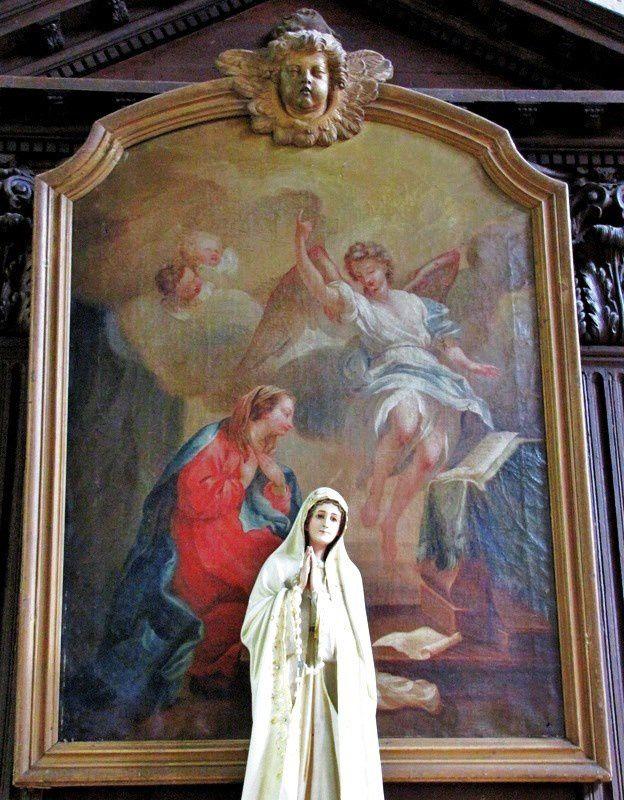 Autel du chevet du bas-côté nord (1/2), église Notre-Dame de Pontoise