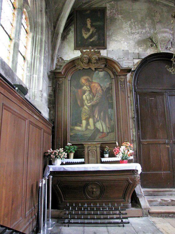 Autel du chevet du bas-côté nord (2/2), église Notre-Dame de Pontoise