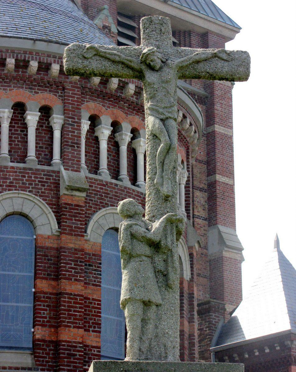Eglise  de Mers-les-Balns et Calvaire de M.J. Cotelle-Clère