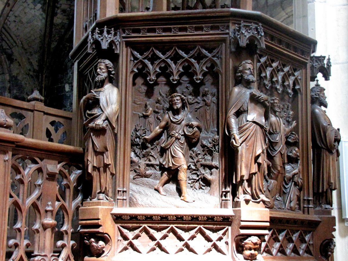 La chaire de l'église Saint Jacques du Tréport