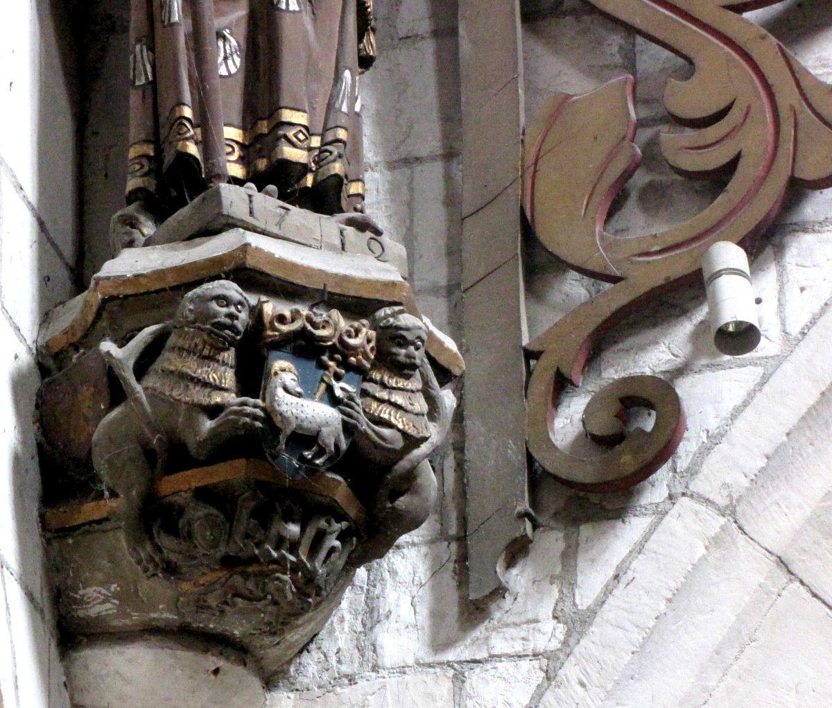 Eglise Saint Jacques du Tréport, statue de Saint Jacques