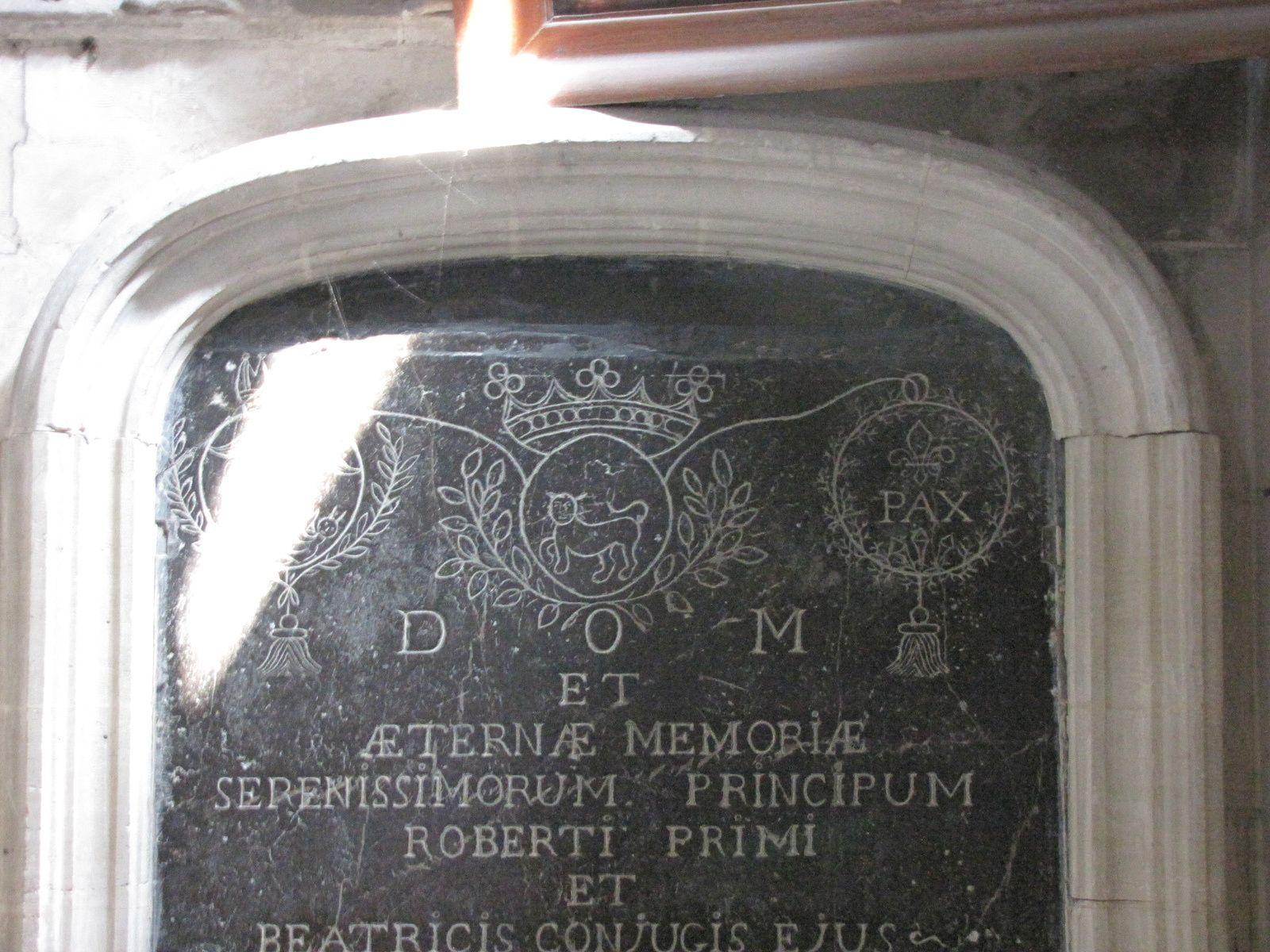 Dalle souvenir de la chapelle St Nicolas, Eglise Saint Jacques du Tréport